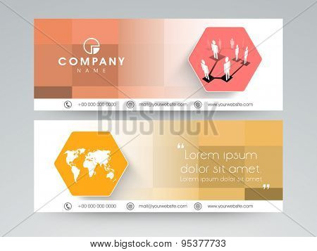 Professional business website header or banner set.