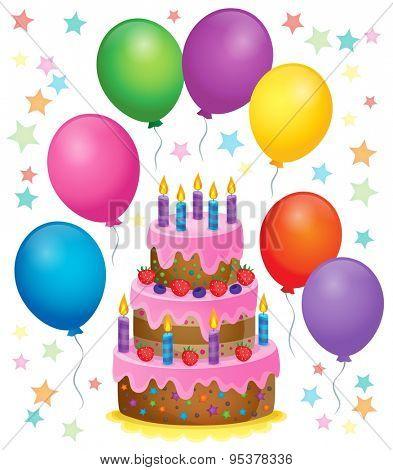 Birthday cake theme image 4 - eps10 vector illustration.