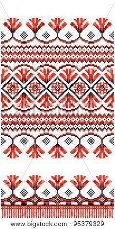embroidered good like handmade cross-stitch ethnic Ukraine pattern