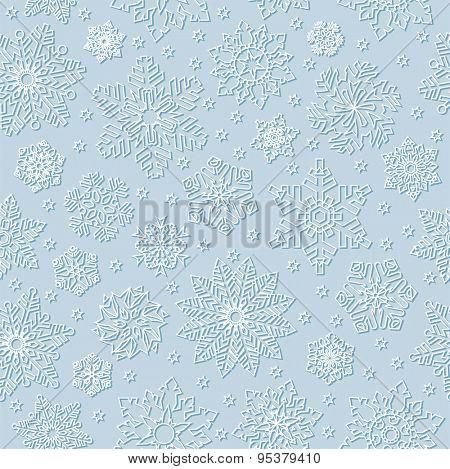 Seamless snowflake background.