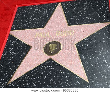LOS ANGELES - JUL 1:  Paul Rudd Star at the Paul Rudd Hollywood Walk of Fame Star Ceremony at the El Capitan Theater Sidewalk on July 1, 2015 in Los Angeles, CA