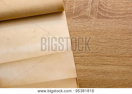 Parchment Is Rolled Into A Scroll