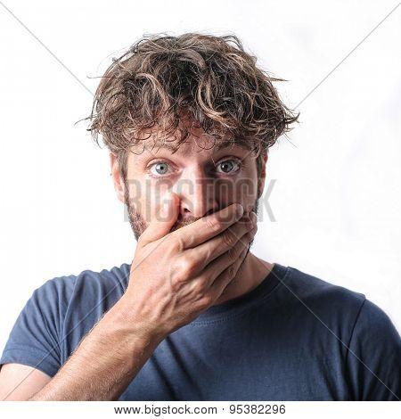 Shocked man