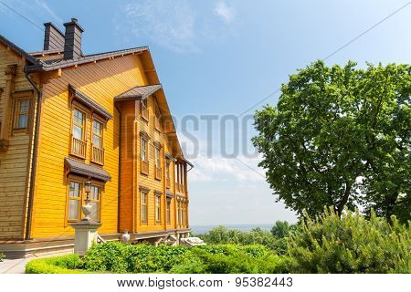 Novi Petrivtsi, Ukraine - May 27, 2015 Mezhigirya residence of ex-president of Ukraine Yanukovich.