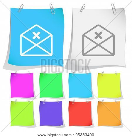 mail cancel. Vector note papers.