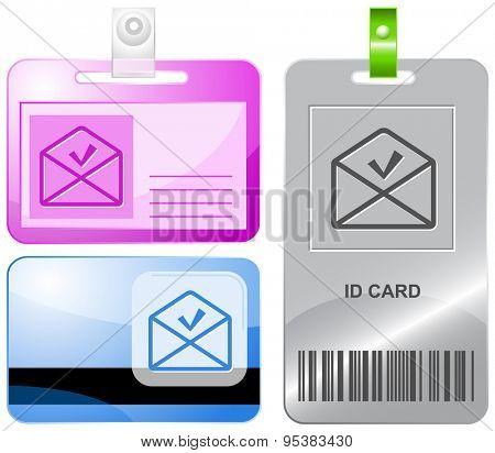 mail ok. Vector id cards.