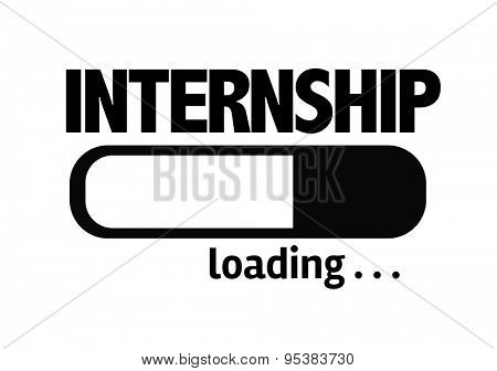 Progress Bar Loading with the text: Internship