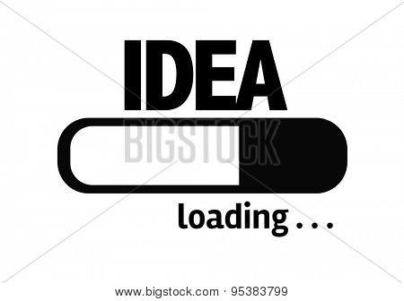 Progress Bar Loading with the text: Idea