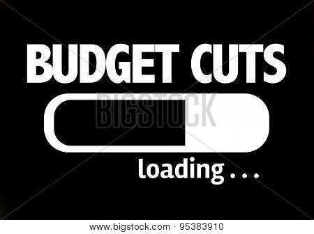 Progress Bar Loading with the text: Budget Cuts