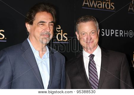 LOS ANGELES - FEB 27:  Joe Mantegna, Gary Sinise at the Noble Awards at the Beverly Hilton Hotel on February 27, 2015 in Beverly Hills, CA