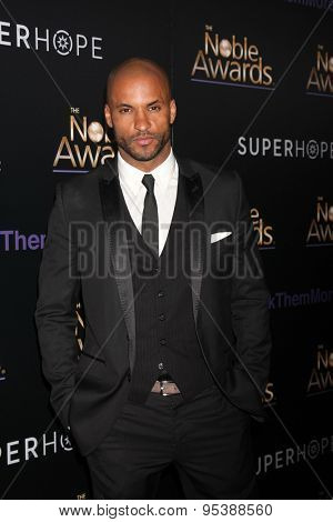LOS ANGELES - FEB 27:  Ricky Whittle at the Noble Awards at the Beverly Hilton Hotel on February 27, 2015 in Beverly Hills, CA