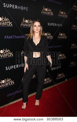 LOS ANGELES - FEB 27:  Jojo Levesque at the Noble Awards at the Beverly Hilton Hotel on February 27, 2015 in Beverly Hills, CA