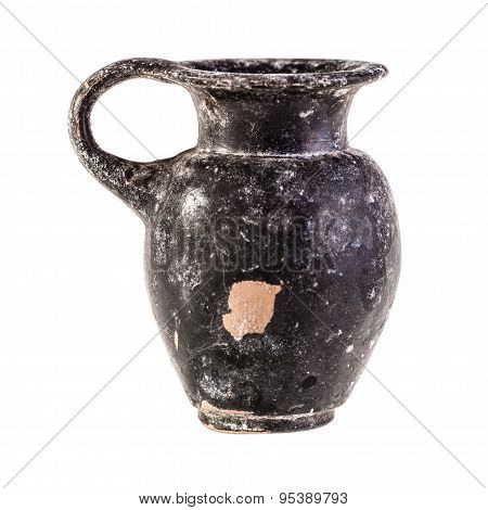 Ancient Jug Over White