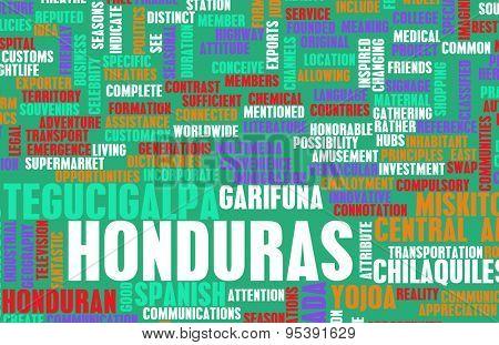 Honduras as a Country Abstract Art Concept