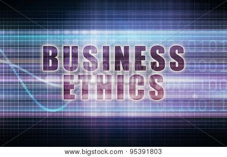 Business Ethics on a Tech Business Chart Art