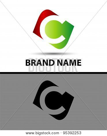 Logo c letter Vector illustration design template