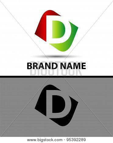 Logo d letter Vector illustration design template
