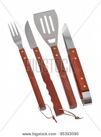 set of BBQ tools