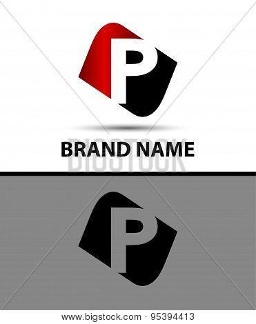 Letter p Vector elegant alphabet symbol