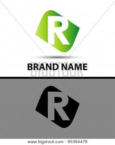Letter r Vector elegant alphabet symbol
