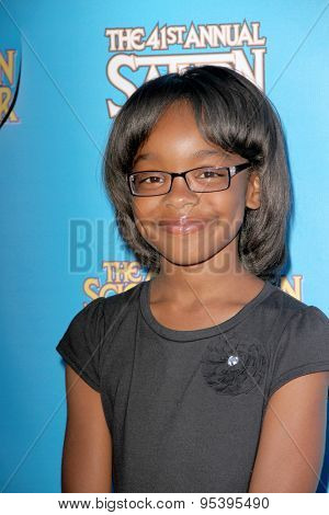 BURBANK - JUNE 25: Marsai Martin arrives at the 41st Annual Saturn Awards on Thursday, June 25, 2015 at the Castaway Restaurant in Burbank, CA.