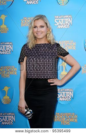 BURBANK - JUNE 25: Eliza Taylor arrives at the 41st Annual Saturn Awards on Thursday, June 25, 2015 at the Castaway Restaurant in Burbank, CA.