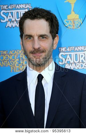 BURBANK - JUNE 25: Aaron Abrams arrives at the 41st Annual Saturn Awards on Thursday, June 25, 2015 at the Castaway Restaurant in Burbank, CA.