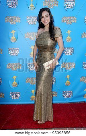 BURBANK - JUNE 25: Valerie Perez arrives at the 41st Annual Saturn Awards on Thursday, June 25, 2015 at the Castaway Restaurant in Burbank, CA.