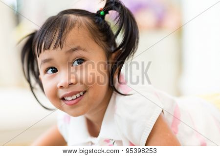 Excited adorable girl