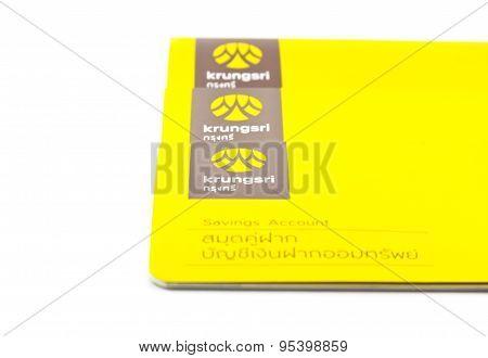 Thai Saving Account Passbook On White Background