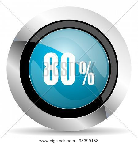 80 percent icon sale sign