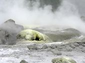 stock photo of boiling point  - pond being heated up to boiling point - JPG