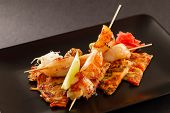 image of scallops  - Japanese Skewered Scallop with Vegetables - JPG