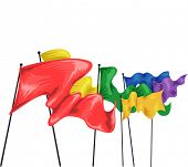 picture of flutter  - Illustration of Colorful Flags Fluttering in the Air - JPG