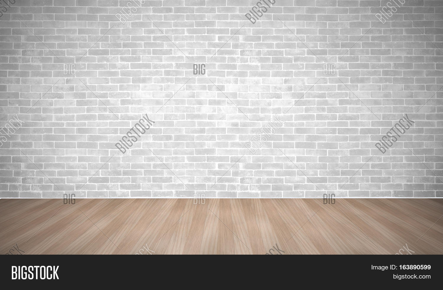 Brick wall and plank wood floor texture concept  Modern vintage