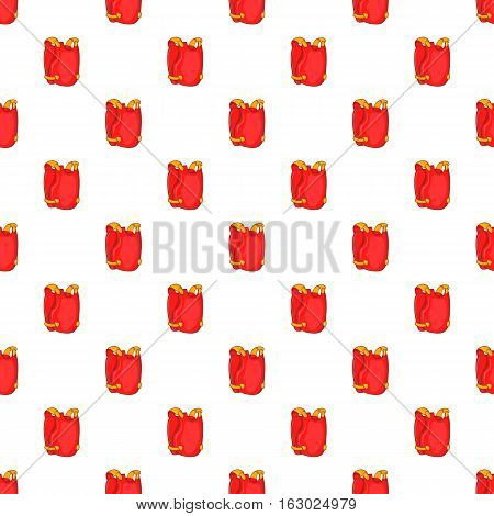 Red paintball vest pattern. Cartoon illustration of red paintball vest vector pattern for web