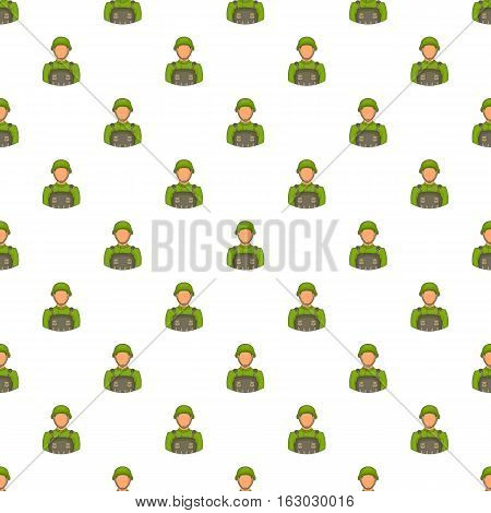 Soldier pattern. Cartoon illustration of soldier vector pattern for web