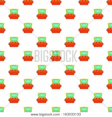 Slot machine pattern. Cartoon illustration of slot machine vector pattern for web