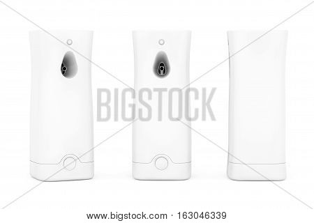 Plastic Automatic Air Fresheners on a white background. 3d Rendering