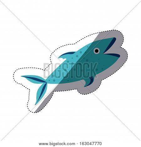 Fish icon. Animal sea life ecosystem and fauna theme. Isolated design. Vector illustration