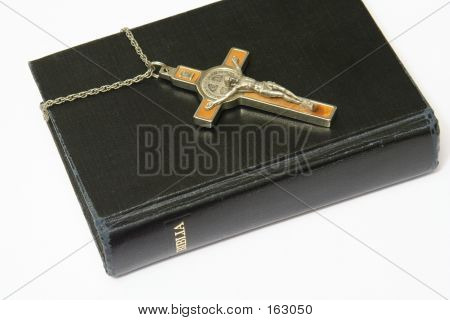 Bible And Crucifix