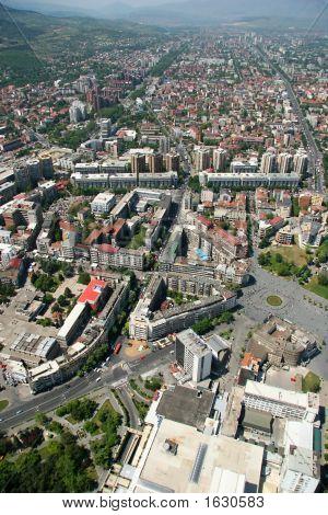 Aerophoto Of Skopje Macedonia