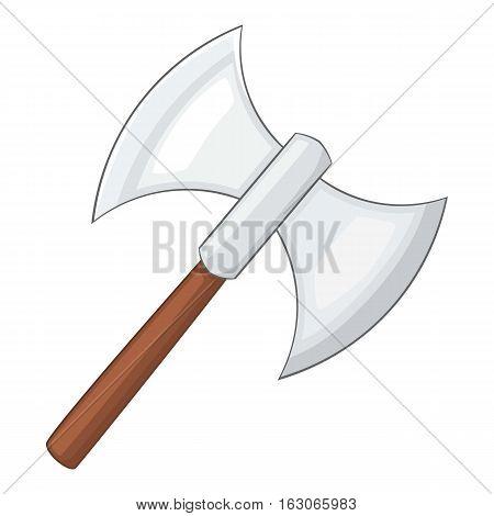 Battle axe icon. Cartoon illustration of battle axe vector icon for web design