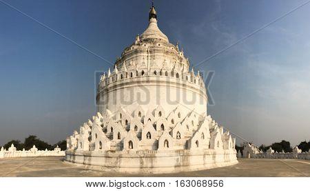 The White Pagoda In Mingun, Mandalay