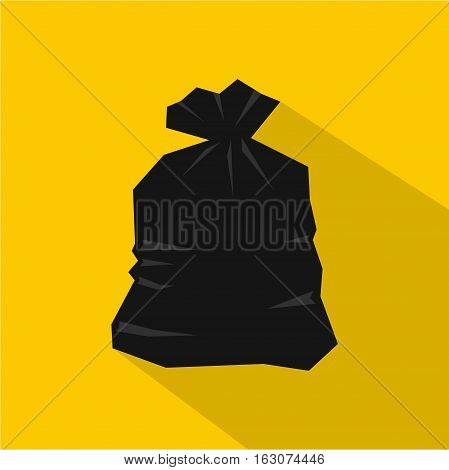 Garbage bag icon. Flat illustration of garbage bag vector icon for web
