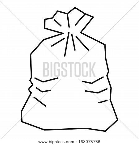 Garbage bag icon. Outline illustration of garbage bag vector icon for web