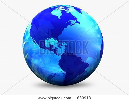Aqua Color World Globe