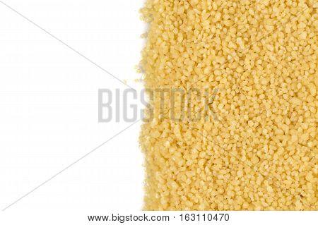 Couscous Heap On White