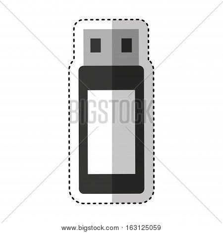 usb memory flash icon vector illustration design vector illustration design