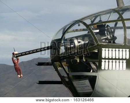 n-us-nv   Nellis AFB, Nevada - 2007-11-11:  Military Air Show - North American B-25 Mitchell Bomber Plane
